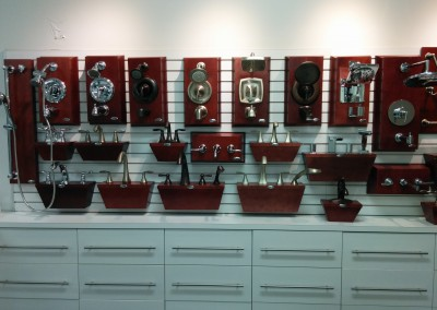 Halifax showroom - fixture wall