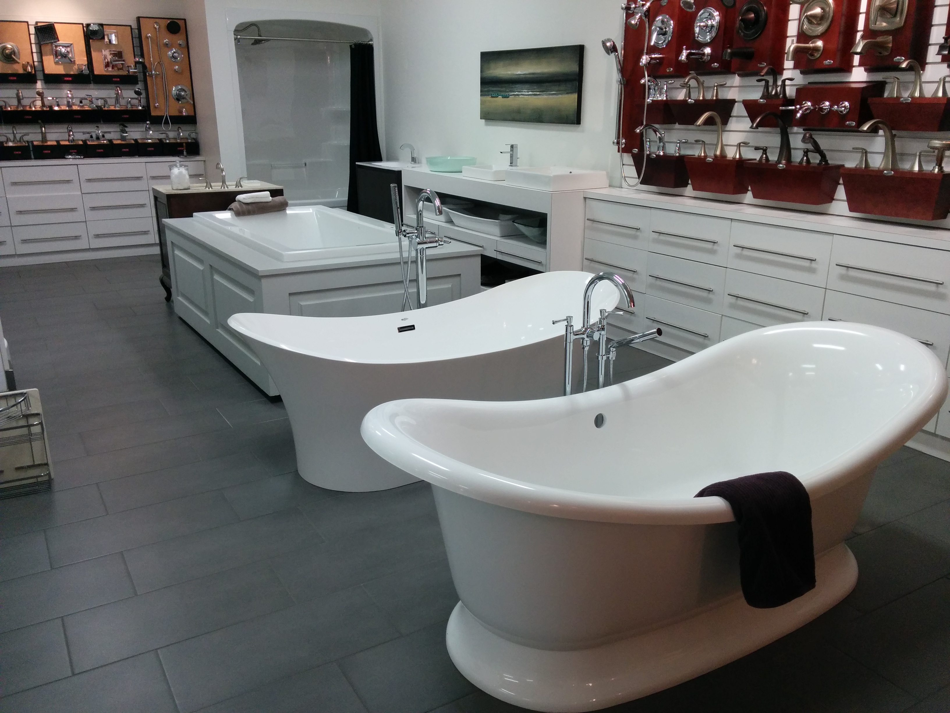Bathtub in showroom